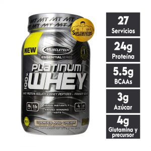 PROTEÍNA PLATINUM 100% WHEY PROTEIN MUSCLETECH