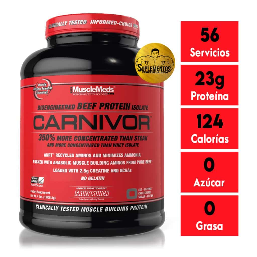 CARNIVOR BEEF PROTEIN 4 LB FRUIT PUNCH